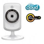 Câmera de Segurança IP D-Link Cloud DCS-942L Acesso via iPhone/iPad/Android, Visualização Noturna e Gravação de Imagens