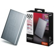 HD Sony Externo USB 3.0 500GB - HD-EG5/SCD Prata