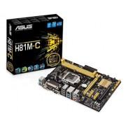 Placa-Mãe Asus Core i3/i5/i7 LGA1150 DDR3 USB 3.0 Windows 8.1 Ready Box - H81M-C/BR