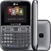 Smartphone LG Quad Chip Cinza - LGC299