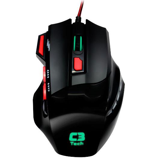 Mouse Gamer C3 Tech MG7208 BK  - ShopNoroeste.com.br