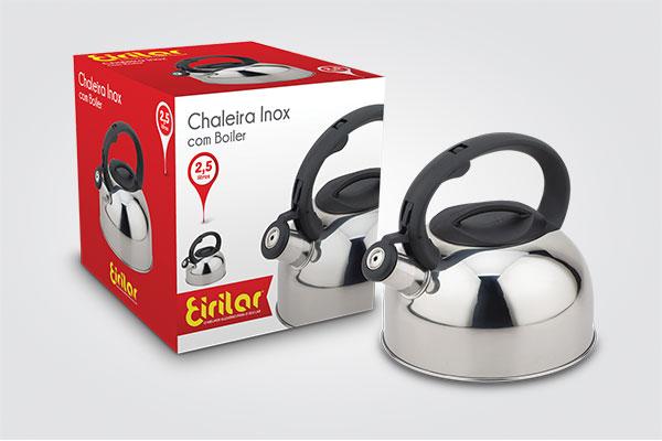 Chaleira Inox com Apito Eirilar 2,5 litros  - ShopNoroeste.com.br