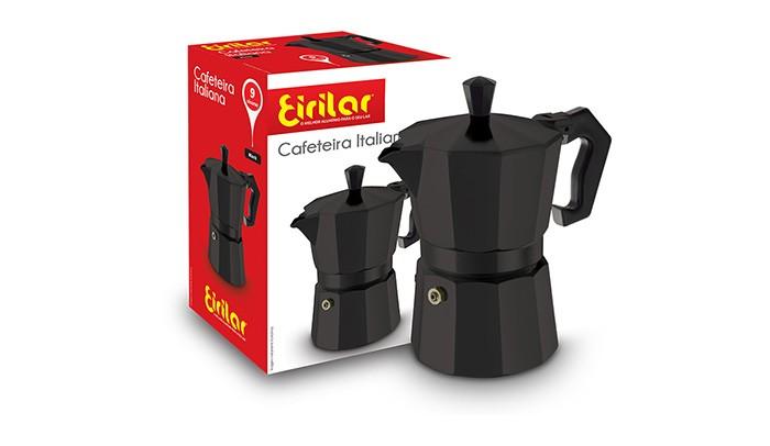 Cafeteira Italiana Black 9 Xícaras - Eirilar  - ShopNoroeste.com.br