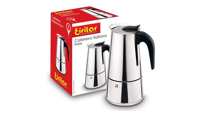 Cafeteira Italiana Inox 4 Xícaras - Eirilar  - ShopNoroeste.com.br
