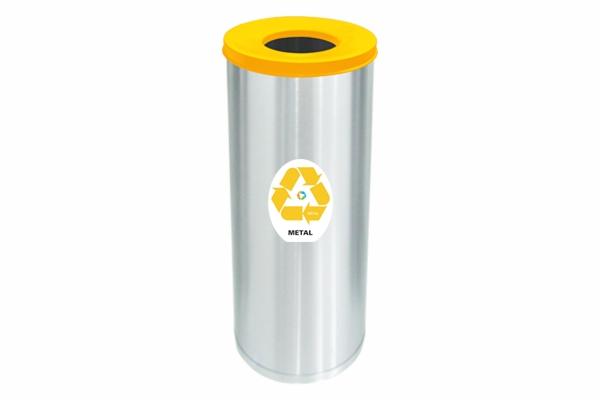 Lixeira Inox Com Abertura Superior 32 Litros Metal Amarela - Só Lixeiras  - ShopNoroeste.com.br