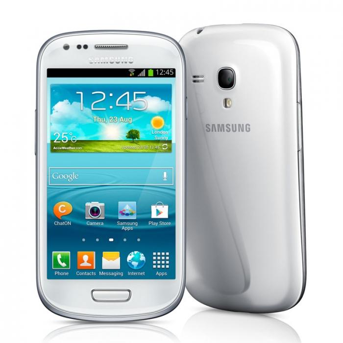 Smartphone Samsung Galaxy SIII Mini c/ Android 4.1, Tela Super Amoled, Dual Core 1Ghz, Câm 5MP, 8GB - I8190 Branco (Desbloqueado)  - ShopNoroeste.com.br