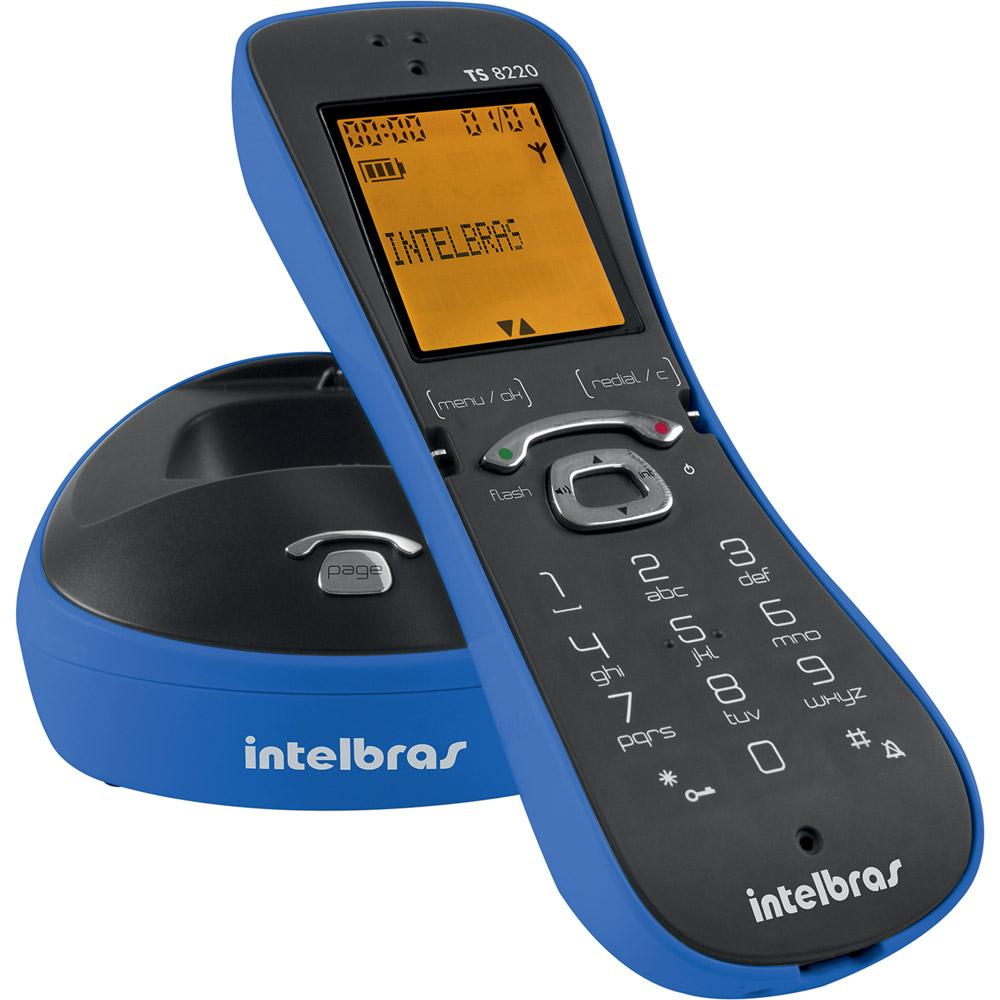 Telefone Sem Fio Intelbras Ts 8220 Azul  - ShopNoroeste.com.br
