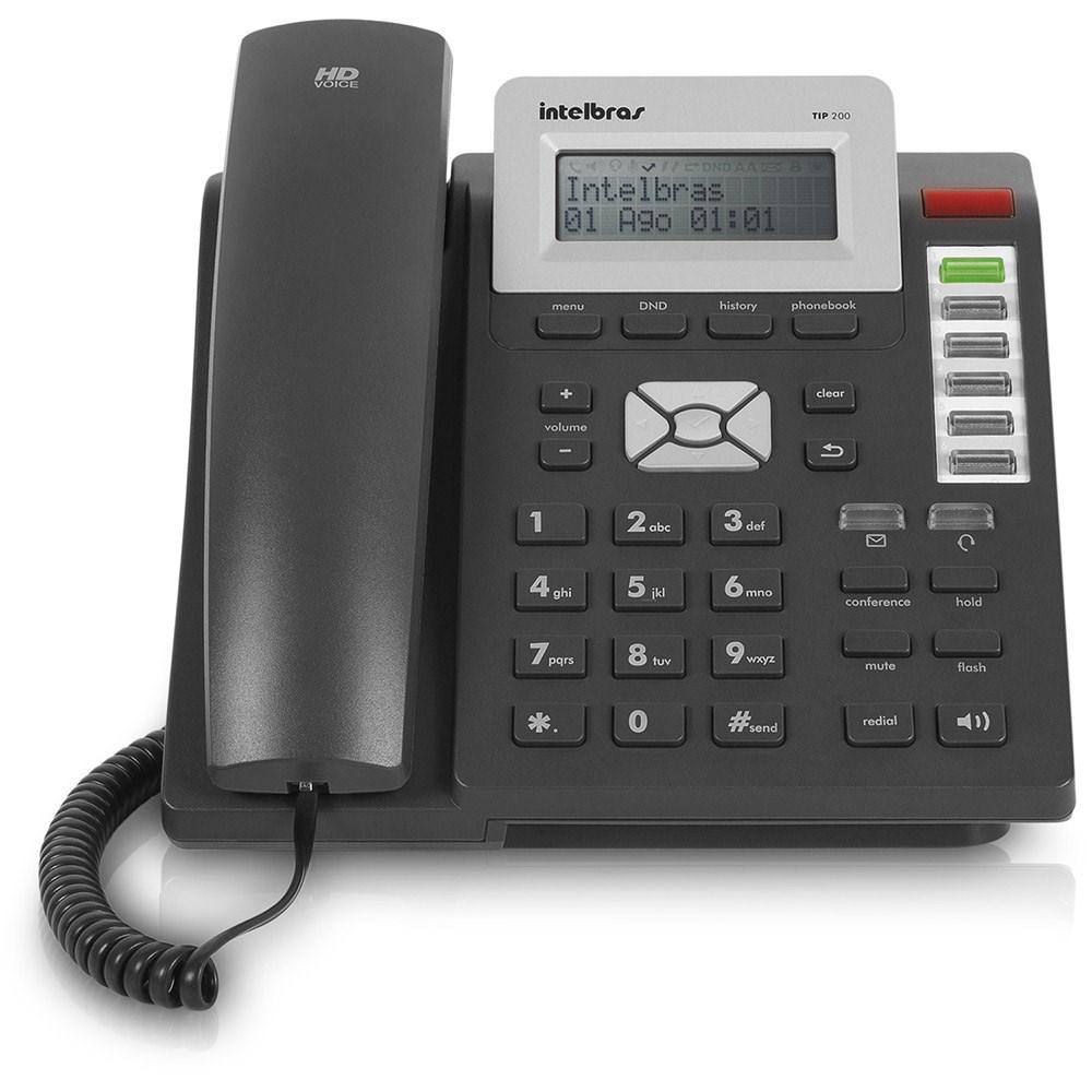 Telefone IP TIP 200 Grafite - Intelbras  - ShopNoroeste.com.br