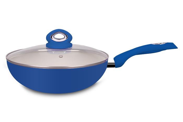 Frigideira Ceramic Wok Blue 28 cm Super Reforçada 2,5mm - Eirilar  - ShopNoroeste.com.br