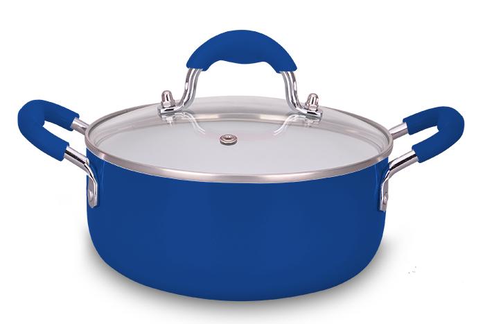 Caçarola Ceramic Blue 20 cm Super Reforçada 2,5 mm - Eirilar  - ShopNoroeste.com.br