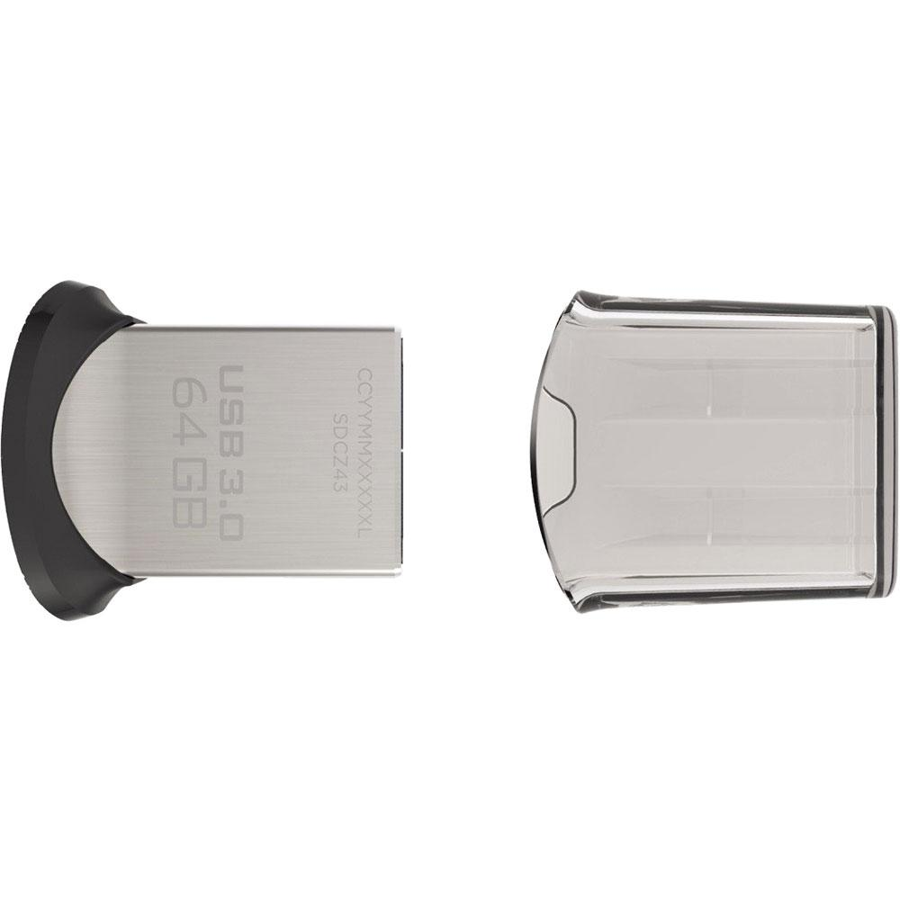 Pen Drive SanDisk Ultra Fit USB 3.0 64GB  - ShopNoroeste.com.br