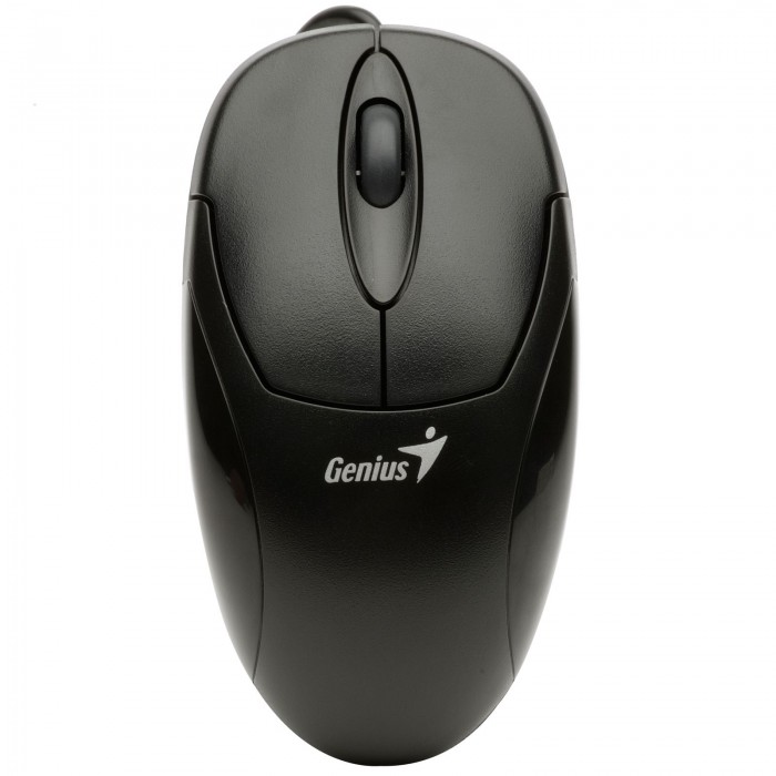 Mouse Óptico Genius XScroll USB Black  - ShopNoroeste.com.br