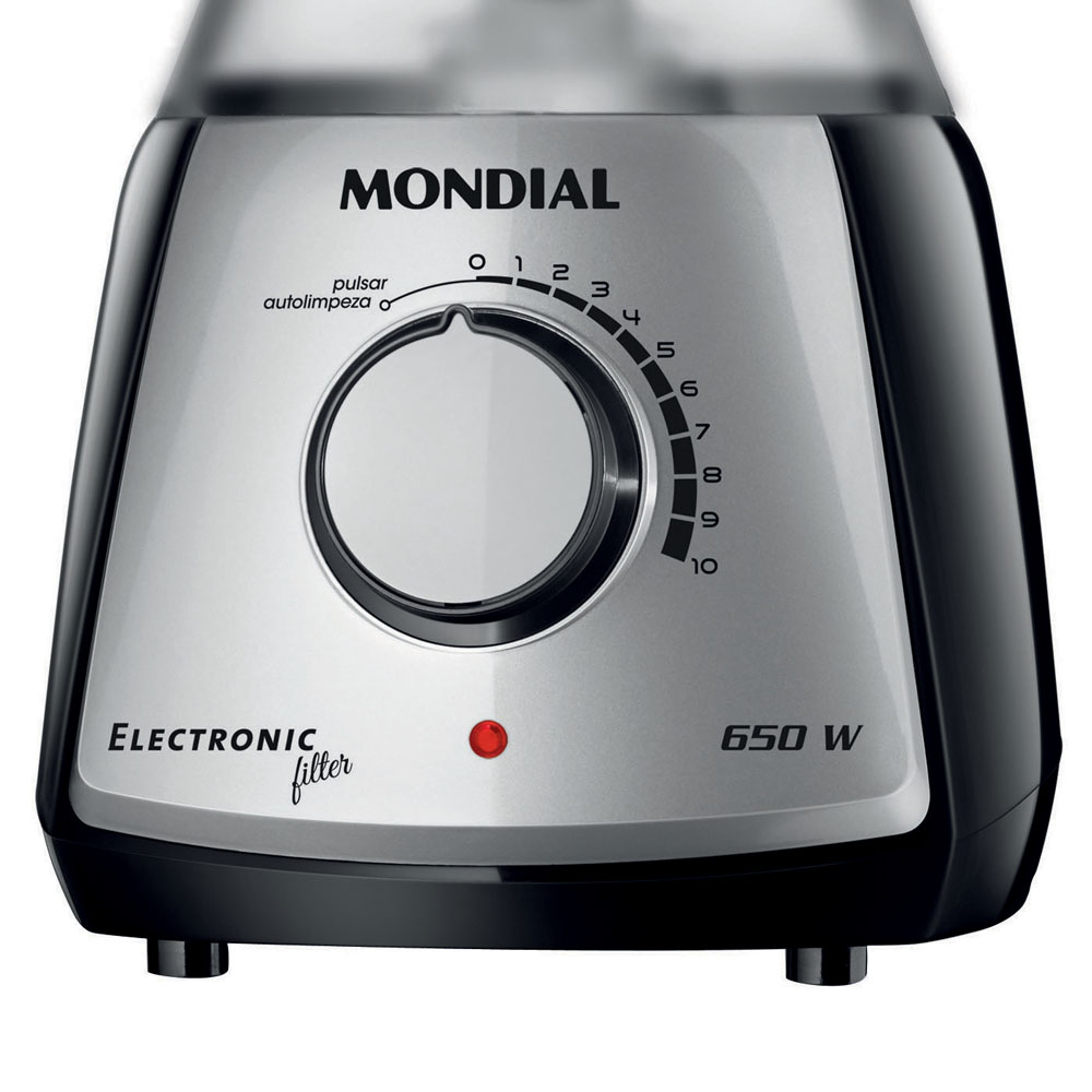 Liquidificador Mondial Electronic com Filtro Premium 650W L-60 127V  - ShopNoroeste.com.br