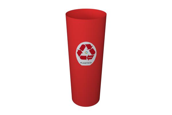 Lixeira Cesto Coleta Seletiva Plástico 20 Litros Vermelho - Só Lixeiras  - ShopNoroeste.com.br