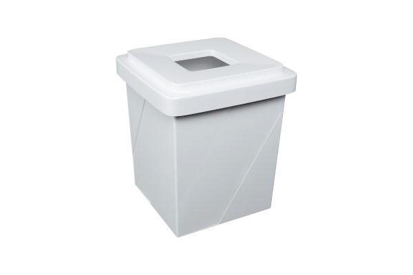 Lixeira Com Abertura Superior 52 Litros Branco - Só Lixeiras  - ShopNoroeste.com.br