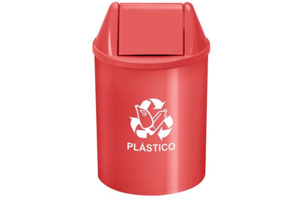 Lixeira com Tampa Vai e Vem Coleta Seletiva Plástico 11 Litros Vermelho - Só Lixeiras  - ShopNoroeste.com.br