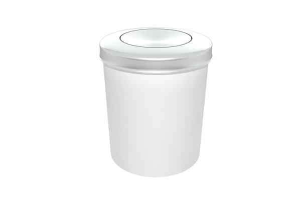 Lixeira com Tampa Vai e Vem Inox 11 Litros Branco - Só Lixeiras  - ShopNoroeste.com.br