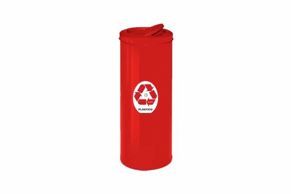 Lixeira com Tampa Vai e Vem em Aço Carbono Coleta Seletiva Plástico 19,5L - Só Lixeiras  - ShopNoroeste.com.br
