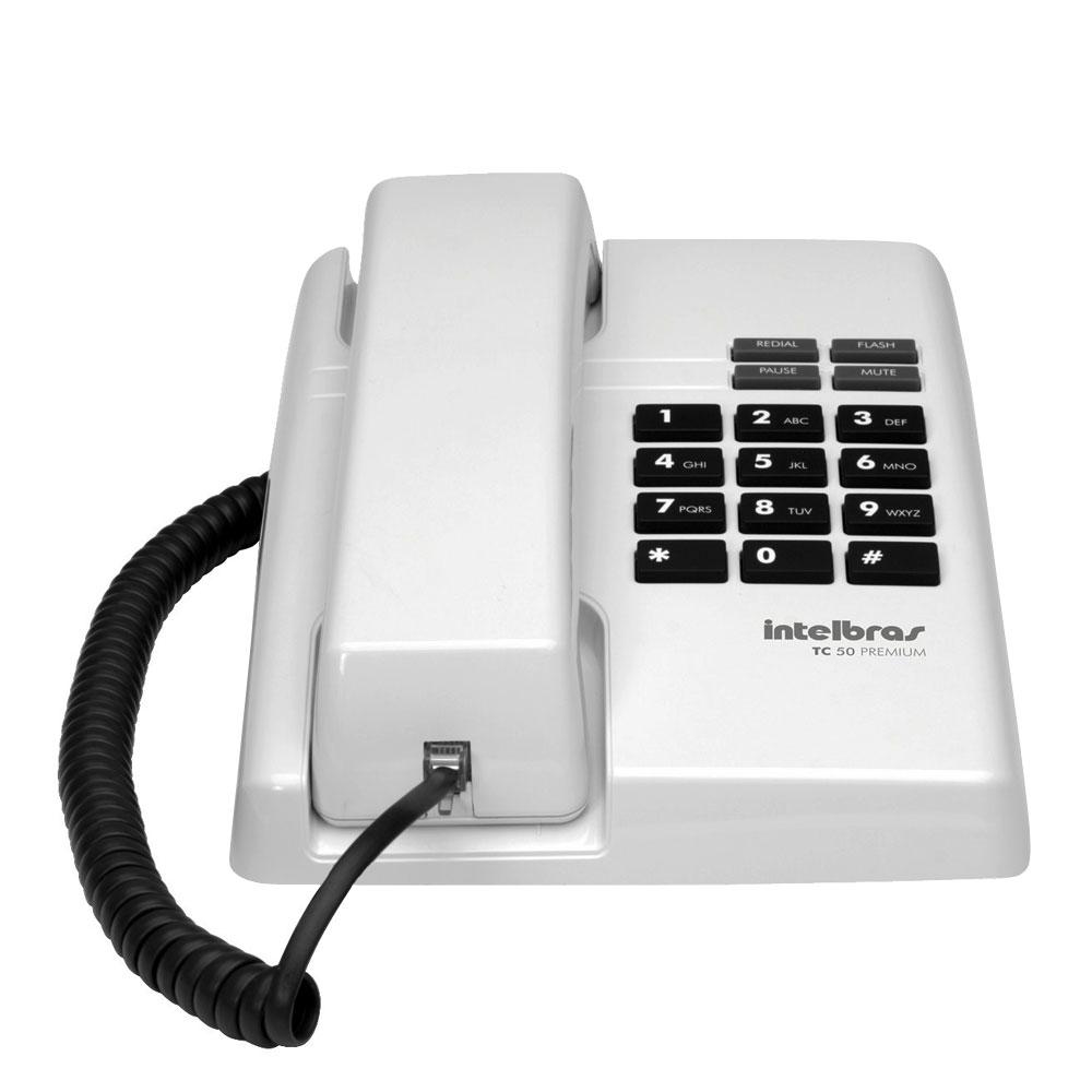 Telefone Intelbras TC 50 Premium Cinza Ártico  - ShopNoroeste.com.br