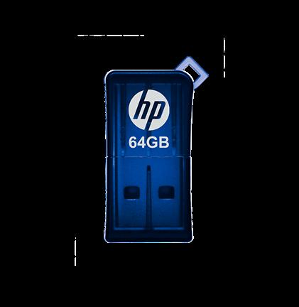 Pen Drive Hp 64Gb Azul Usb V165W  - ShopNoroeste.com.br