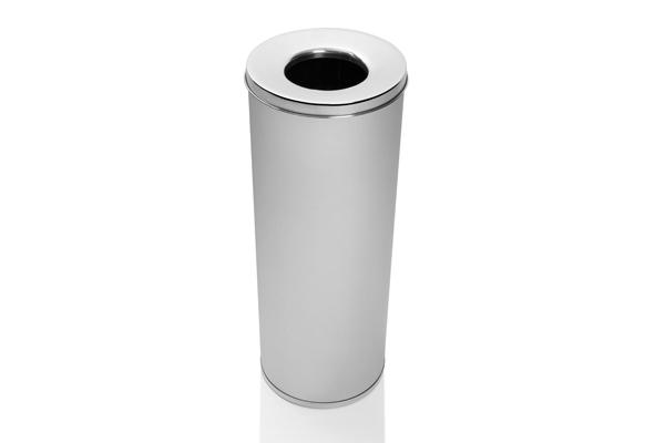 Cesto para Lixo Inox Escovado com Abertura Superior 32 Litros - Só Lixeiras  - ShopNoroeste.com.br
