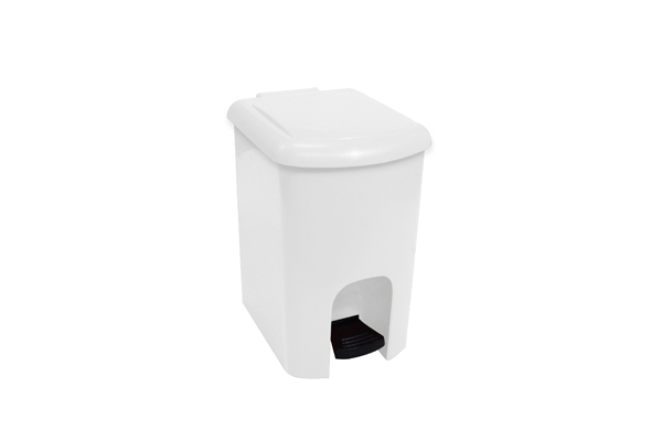 Lixeira com Pedal Branco 15 Litros - Só Lixeiras  - ShopNoroeste.com.br