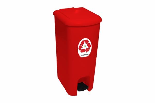 Lixeira com Pedal Coleta Seletiva Plástico 25 Litros - Só Lixeiras  - ShopNoroeste.com.br
