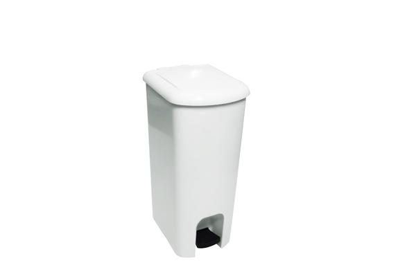 Lixeira com Pedal Branco 25 Litros - Só Lixeiras  - ShopNoroeste.com.br