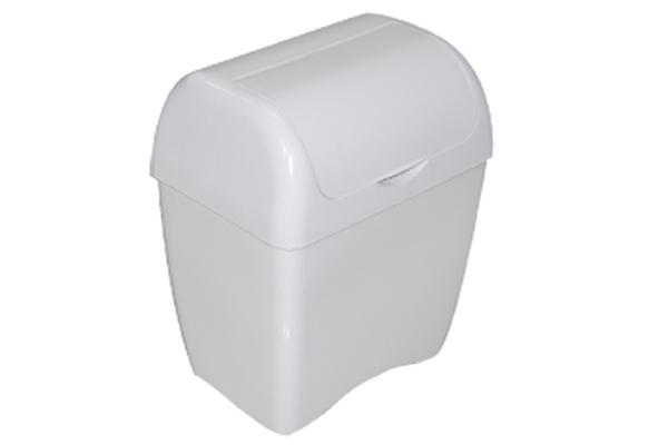 Lixeira com Tampa Fixa 4 Litros Branco - Só Lixeiras  - ShopNoroeste.com.br