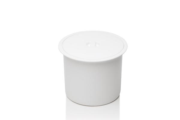 Lixeira com Tampa Sobreposta 5 Litros Branco - Só Lixeiras  - ShopNoroeste.com.br