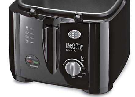 Fritadeira Elétrica Fast Fry Black 1,2 Litros Grelha Removível 220V - Mondial   - ShopNoroeste.com.br