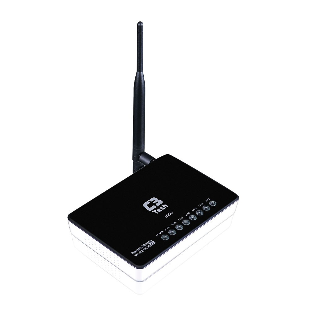 Roteador C3 Tech Antena Destacável Wireless  802.11B/G/N 150MBPS W-R2000NL Router + AP + Repetidor  - ShopNoroeste.com.br
