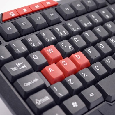 Teclado Multimídia USB Kross Elegance KE-K102 Preto e Vermelho  - ShopNoroeste.com.br