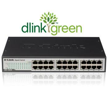Switch D-Link 24 Portas 10/100/1000 - DGS-1024D  - ShopNoroeste.com.br