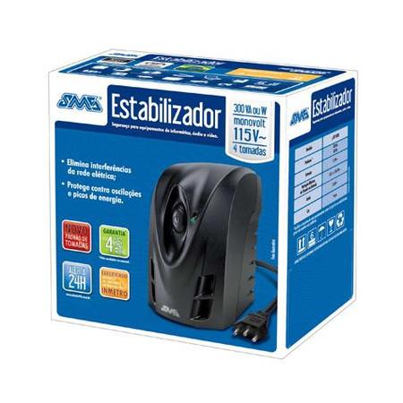 Estabilizador SMS Revolution Speedy Compacto 300 VA/W 115V Monovolt  - ShopNoroeste.com.br