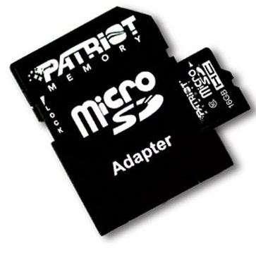 Cartão de Memória Patriot Micro SD 16GB  - ShopNoroeste.com.br