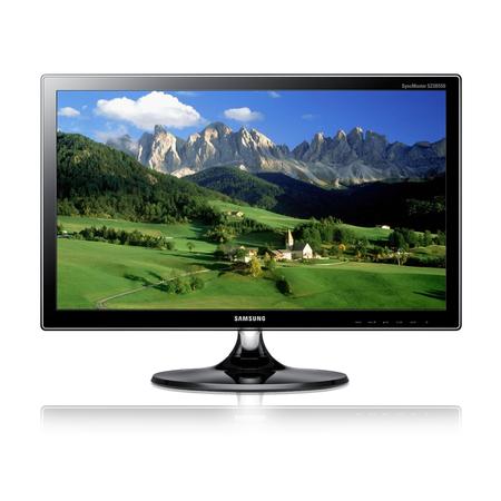 Monitor Samsung LED S23B550V 23´ Widescreen VGA DVI HDMI(2) - Black Piano  - ShopNoroeste.com.br