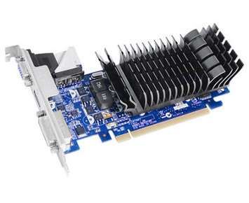 Placa de vídeo VGA ASUS GeForce 210 1024MB (1GB) DDR3 64-bit PCI-E EN210 SILENT/DI/1GD3/V2 (LP)  - ShopNoroeste.com.br