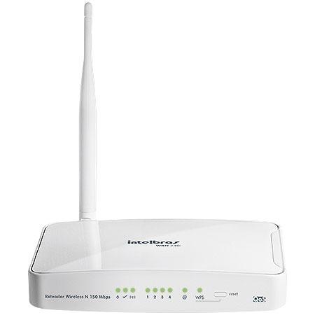 Roteador IntelBras Wireless 150Mbps WRN 240i  - ShopNoroeste.com.br