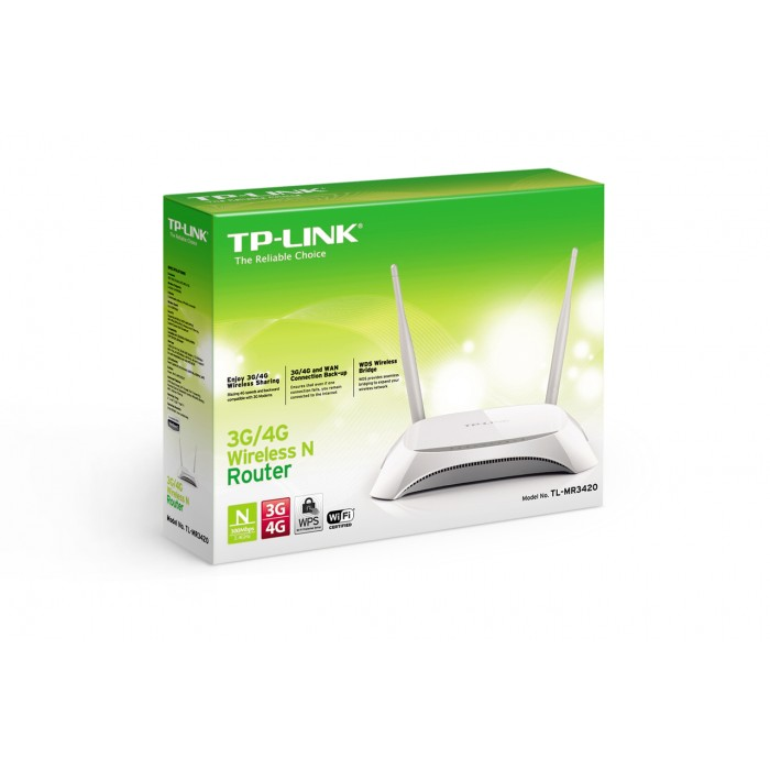 Roteador 3G/4G Tp-Link Wireless  300Mbps TL-MR3420  - ShopNoroeste.com.br