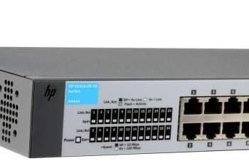 Switch 26 Portas HPN V1410-24-2G -24 portas 10/100 Mbps e 2 portas 10/100/1000 Mbps - J9664A  - ShopNoroeste.com.br
