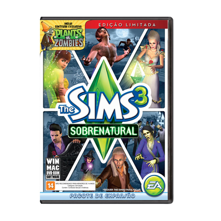 Jogo The Sims 3: Sobrenatural Edição Limitada PC - EA40101P  - ShopNoroeste.com.br