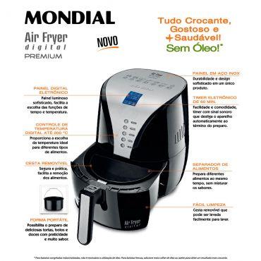 Fritadeira Sem Óleo Air Fryer Digital Premium AF-04 127V - Mondial  - ShopNoroeste.com.br