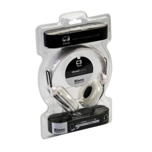 Headphone C3 Tech MI-2322 RW Branco  - ShopNoroeste.com.br