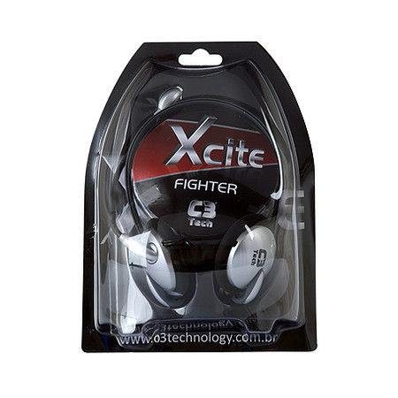 Headphone C3 Tech Xcite Fighter MI-2520  - ShopNoroeste.com.br