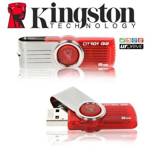 Pen Drive Kingston DataTraveler DT101G2 8GB  - ShopNoroeste.com.br