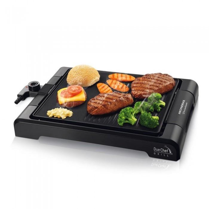 Chapa e Grill Due Chef Gril Premium G-08 127V - Mondial  - ShopNoroeste.com.br