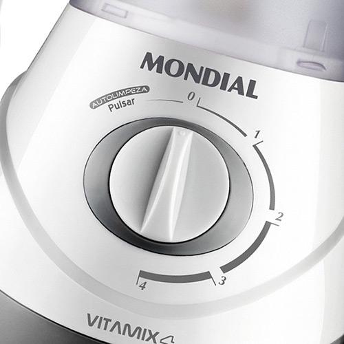 Liquidificador Vitamix 4V c/ Filtro NL-41 Branco 127V - Mondial  - ShopNoroeste.com.br