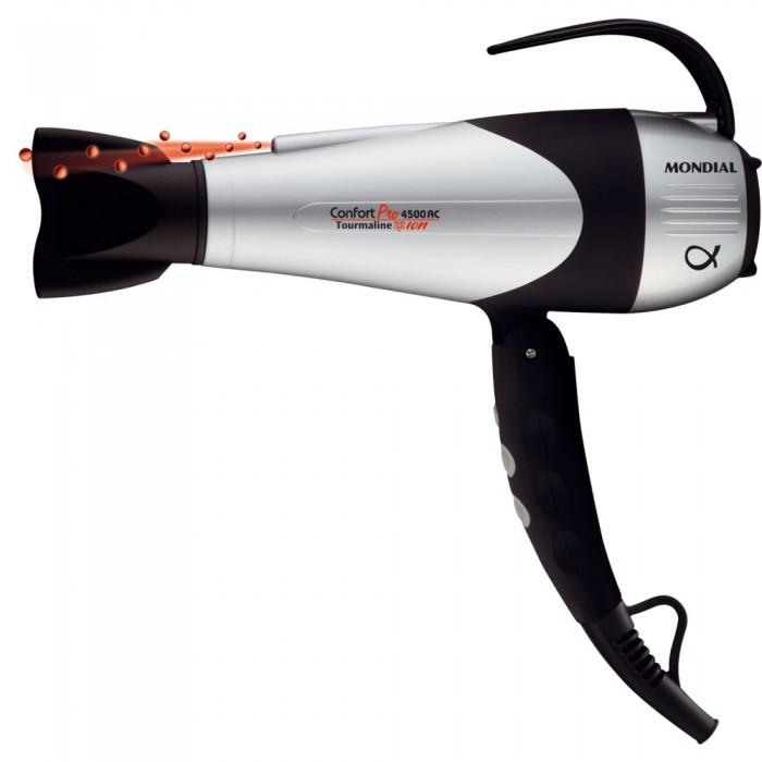 Secador de Cabelo Confort Pro 4500 Tourmaline Ion LAS-51 220V - Mondial  - ShopNoroeste.com.br