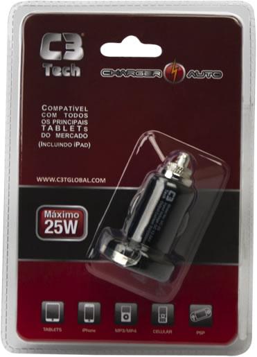 Carregador USB C3 Tech Para Multifunção UC-20  - ShopNoroeste.com.br